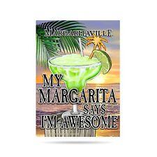 13x18 Margaritaville Margarita Says Awesome Jimmy Buffet Garden Flag Pole Sleeve