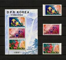 (YRAB 187) Korea 1981 MNH Mich 2126 -8 Scott 2074 -6, 2076a Flowers