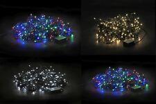 LED Lichterkette Weihnachtsbeleuchtung Kette Leuchte außen IP44 grünes Kabel