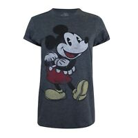 Disney Mickey Mouse Women's Clothing - Ladies Mickey T-shirt Vintage Dark Grey