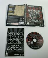 Rock Band Track Pack Classic Rock PS2 Harmonix 2009 Complete