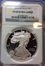 2010 W American Silver Eagle Proof $1 Ounce UCAM PF69 NGC Coin PR-69 Ultra Cameo
