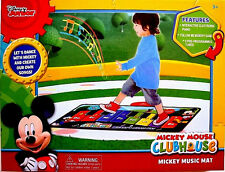 DISNEY MICKEY MOUSE CLUBHOUSE,INTERACTIVE ELECTRONIC FLOOR PIANO,MUSIC MAT,NEW