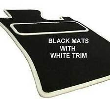 NISSAN FIGARO 2  FIXING HOLES Car Floor Mats WHITE TAILORED