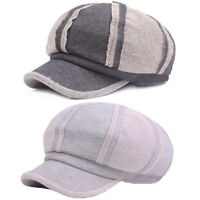 Unisex Men Women Cotton Gatsby Newsboy Hat High Quality Cabbie Driver Hats NEW