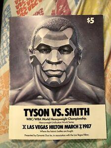 1987 Boxing Program Mike Tyson Vs Bonecrusher Smith World Championship On-site