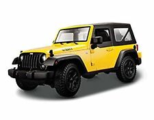 Maisto 1:18 2014 Jeep Wrangler Yellow Diecast Model Car Vehicle NEW IN BOX