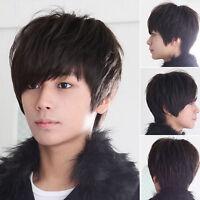 Fashion Cool Boys Korean Hair Wig Mens Male Short Hair Cosplay Anime Full Wigs