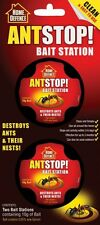Ant Stop Bait Station Destroys Ants & Their Nests Quantity 2 x 10g Of Bait