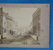 Scarce 1850/60s Stereoview Photo Swansea High Street Institution For The Blind