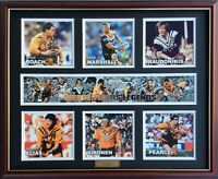 New WESTS TIGERS LEGENDS Memorabilia Limited Edition Framed Comes With COL