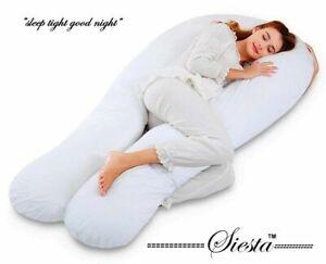 12ft Comfort U Pillow & Case Body Support Nursing Maternity Pregnancy U Pillow