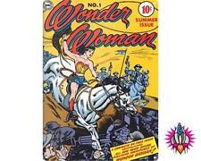 DC COMICS WONDER WOMAN LASSO COMIC COVER LARGE METAL WALL SIGN PLAQUE
