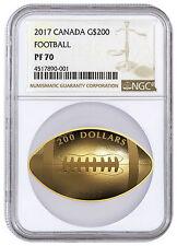 2017 Canada $200 1 oz. Proof Gold Football-Shaped Coin NGC PF70 SKU44732