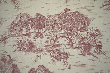 WAVERLY FRENCH COUNTRY HOME RED TOILE DESIGNER HOME DECOR FABRIC 100% COTTON