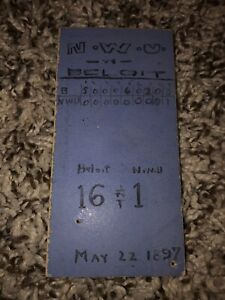 May 22, 1897 Northwestern University vs Beloit College Baseball Ticket Rare