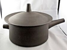 RARE 4 Quart Round Covered Casserole Flamestone Smooth Brown by DANSK Large
