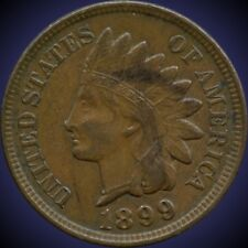 """1899 United States """"Indian Head"""" 1 Cent Coin"""