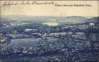 Three Lakes Near Ridgefield CT c1910 Postcard