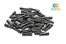 50x Lego Technic Pin 3L with Friction Ridges and Stop Bush - 32054 Black
