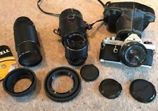 Pentax MX 35mm SLR Film Camera With 50mm F1.7, 135mm F3.5, 200mm F4 Lenses.