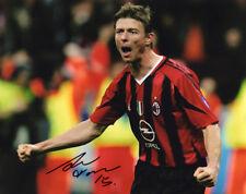 Jon Dahl Tomasson, AC Milan, Denmark, Feyenoord, signed 10x8 inch photo. COA.