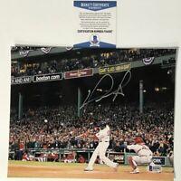 Autographed/Signed DAVID ORTIZ Boston Red Sox 8x10 Baseball Photo Beckett COA #2