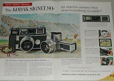1958 KODAK 2-page advertisement, for Kodak Signet 80 Camera