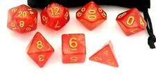 DICE SET  - D&D - LOT FIFTYEIGHT - DUNGEONS AND DRAGONS - RED & GOLD