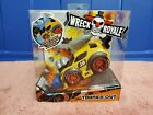 Mga Wreck Royale Exploding Crashing Tooned Out Race Car W/ 4 Mix 'n Match Parts