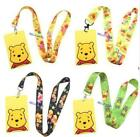 10Pcs cartoon pooh Cute Lanyard ID Badge Holder Key Neck Strap