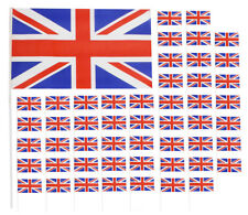 50PCS UNION JACK HAND WAVING FLAGS ROYAL WEDDING PARTY EVENT GREAT BRITAIN FLAG