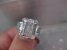 14K White Gold Natural Diamonds Engagement Ring with GIA