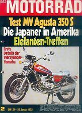 Motorrad 2 72 MV Agusta 350 S Giuseppe Gilera Elefanten 1972 Italien Italo Bikes