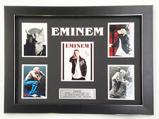 EMINEM PROFESSIONALLY FRAMED, SIGNED PHOTO COLLAGE WITH PLAQUE