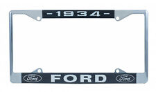 1934 FORD LICENSE PLATE FRAME UNIVERSAL FIT HOT ROD RAT STREET VTG OLD STYLE