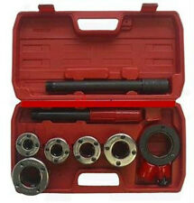 "Ratchet Die Stock Pipe Threader BSPT W/5 Dies 3/8"",1/2"",3/4"",1"",1-1/4"" Kit (PT1)"