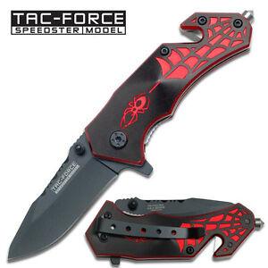 Tac Force TF-553BR-S Knives Folder Knife Black Finish Assisted Rescue Liner Lock