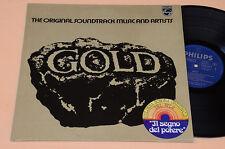 GOLD LP COLONNA SONORA ORIGINALE DEL FILM IL SRGNO DEL POTERE 1°ST ITALY 1974 NM