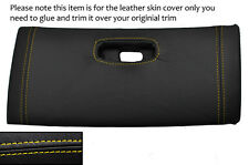 YELLOW STITCH TOP DASH GLOVE BOX LID LEATHER COVER FITS TOYOTA SUPRA MK4 93-02