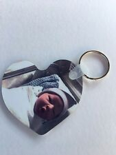 Personalized Photo Keychain Double-Sided ,Christmas Gift For All.