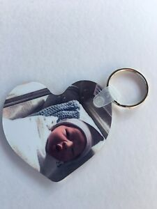 Your Photo Keychain,  Double-Sided (2 sides) , Christmas Gift For Dad