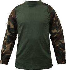 Woodland Camouflage Heat Resistant Lightweight Combat Shirt