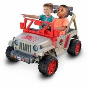 Power Wheels Jurassic Park Jeep Wrangler 12-V Ride On