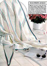 SUMMERY Bias-Stripe Afghan/Crochet Pattern INSTRUCTIONS ONLY