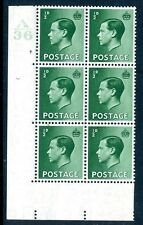 1936 ½d Green A36 Cylinder 7 dot Pearl Beside Crown Lightly Mounted Mint V75208