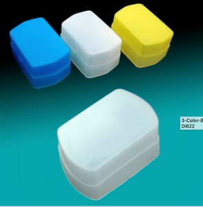 3 color Blue Yellow White Flash Bounce Diffuser For Canon Speedlight 580EX YN560