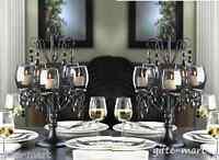 "2 large 17"" tall BLACK chandelier CANDELABRA Candle holder table centerpiece"