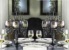 "9 large 17"" tall Black chandelier Candelabra Candle holder wedding centerpiece"