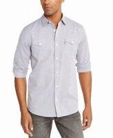 Levi's Mens Shirt Gray Size Medium M Darrow Button Up Dual Pocket $54 #088